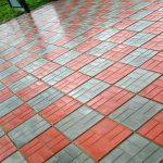 Тротуарная цветная плитка: изготавливаем и красиво кладём