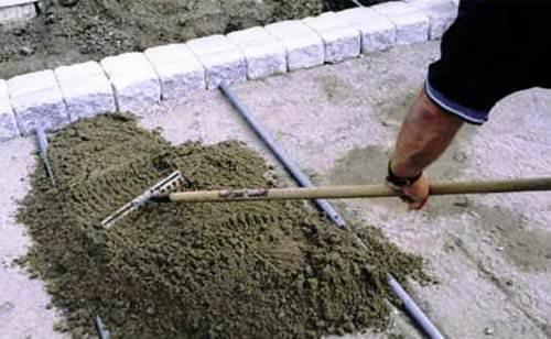 Укладка бетонной плитки на сухую смесь купить бетон в ростове на ксм